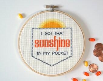 Can't Stop the Feeling | Modern cross stitch | Justin Timberlake song lyrics