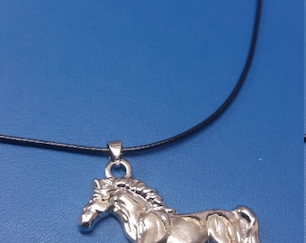 horse necklace, stainless steel horse charm, horse, pony necklace. horse pendant