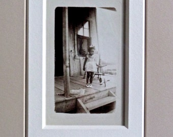 Depression Era framed photo of African American girl in her Sunday best