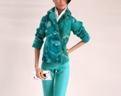Blue Pant Suit for Barbie Silkstone Fashion Royalty Dolls