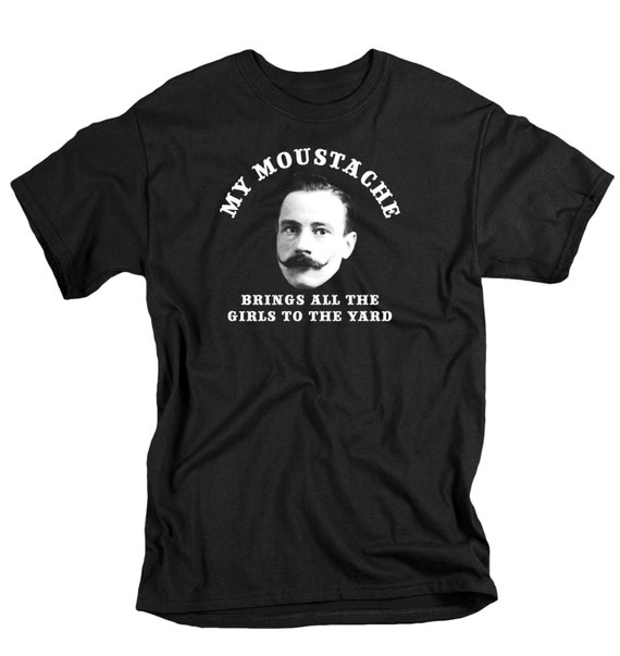 Funny moustache t shirt mens mustache tshirt moustache gift screenprint Father gift unique birthday gift for men with moustache clothing