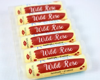 Wild Rose Lip Balm . Natural Lip Balm . Rose . Lip Butter . Lip Balm Favors