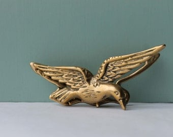 Vintage Brass Seagull, Seagull Clip