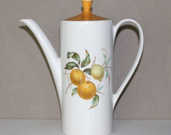 Vintage, Bitter Sweet, White and Gold Teapot