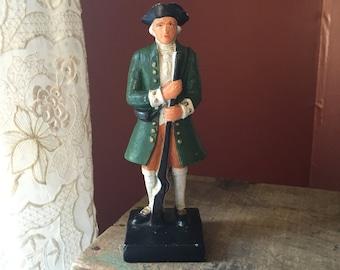 Vintage Cast- Iron Revolutionary War Soldier Statue