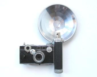 Vintage 35mm Camera, Argus C3 Range Finder with Flash Attachment