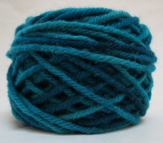 BLUEBERRY , 100% Wool, 2 oz 43 yards, 4-Ply Bulky weight or 3-ply Worsted weight yarn, already wound into cakes, ready to use. Made to order