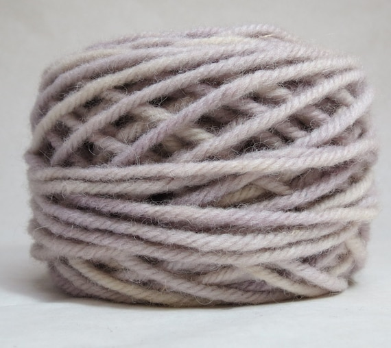 LILAC, 100% Wool, 2 ozs. 43 yards, 4-Ply Bulky weight and 3-ply Worsted weight yarn, already wound into cakes, ready to use.