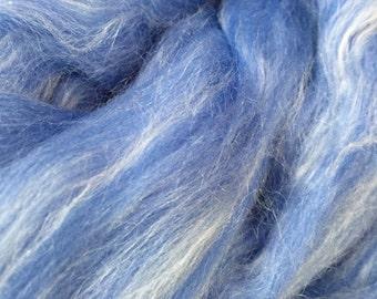 "louet dyed merino silk top spinning fiber 4 oz ""blue"": saorisantacruz"