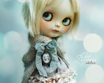MY DARLING FRIEND Blythe / Pullip Jacket, Vintage Romantic Collection By Odd Princess Atelier, Shabby Chic, Hand Knitted, Special Outfit