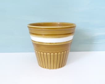 Small Gold Flower Pot/ Indoor Planter Made in Japan