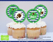 Football Cupcake Toppers - Football Party Circles - Sports Toppers - Sports Cupcake Toppers - Digtal & Printed Availale