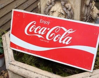 Vintage Coca Cola Sign 22 x 10 Retro Diner Decor