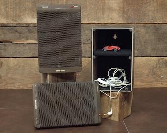 Secret Speaker Box, Stash Box repurposed from Vintage German Visonik David 6000 Wall Speakers Shelf Speakers