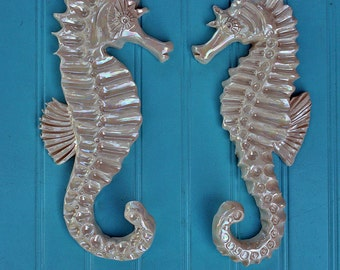 Shabby Chic Hand Made Clay Seahorse Hooks