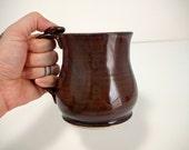 Rustic Brown Coffee Mug, Ceramic Mug, Pottery Mug, Made When Ordered