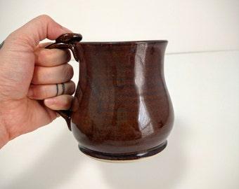 Rustic Coffee Mug, Brown, Coffee Mug, 8oz 14oz 18oz