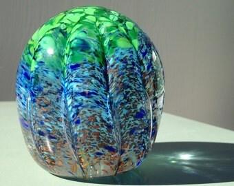 Garden of Life - hand blown art glass paperweight
