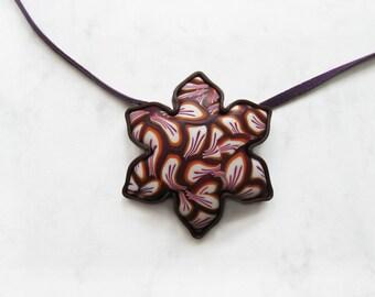 Petal Swirl polymer clay pendant, Flower Petals, Flower Jewelry, Floral Jewelry, Swirls Jewelry, Swirls Pendant