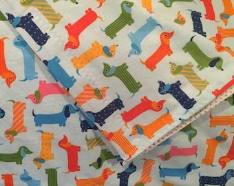 Weiner Dogs, Receiving Blanket, Baby Blanket, Dachshunds, Doxies, Reversible Blanket, Flannel