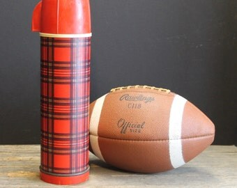 Vintage Red Plaid Universal Thermos Vacuum Bottle Model 2284