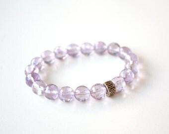 Amethyst Bracelet, February Birthstone, Light Purple Bracelet, Lilac bracelet, Violet bracelet