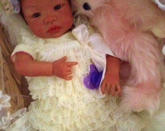 From the Biracial Shyann Kit  Reborn Baby Doll 19 inch Baby Girl Destiny Complete Baby Doll