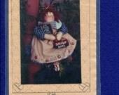 Homespun at Heart Designs Rag Doll Pattern School Days Size 12 inch doll UNCUT
