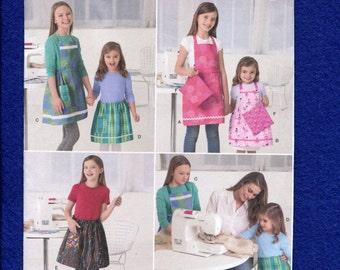 Simplicity 2173 Girls Learn to Sew Aprons with This Pattern Size 7 to 14 UNCUT