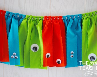 Monster Fabric Bunting - FREE Shipping - Monster Fabric Garland - Monster Garland - Monster Bunting - Monster Banner - Monster Party