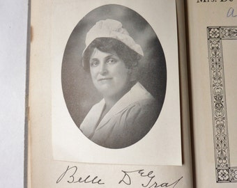 Mrs. DeGraf's Cookbook, Autographed Cookbook with Picture 1927