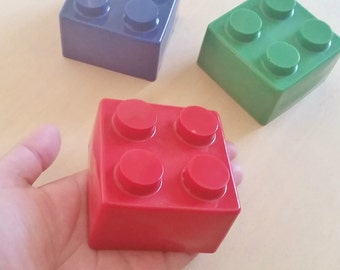 Large Chocolate Lego Blocks Filled with Cake or Brownie (6)