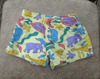 Boy's Bathing Suit Toddler Swim Trunk Vintage Children's Clothes Boys Swim trunks Animal Print 90's Rad Boys Bathing Suit Kids Shorts Size 3