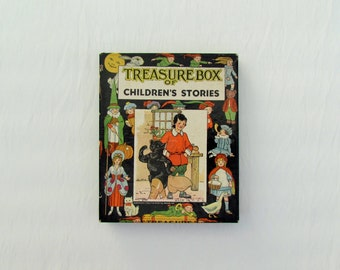 Vintage boxed set of children's stories dated 1922, set of 6 fairy tales in box