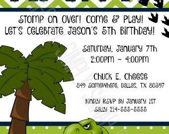 Custom Dinosaur Birthday Invitation  **PRINT AT HOME**