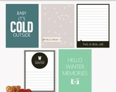 Printable Journaling Cards Everyday Winter for Scrapbook and Project Life INSTANT DOWNLOAD