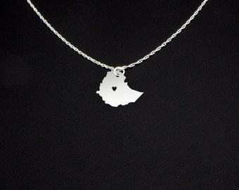 Ethiopia Necklace - Ethiopia Jewelry - Ethiopia Gift