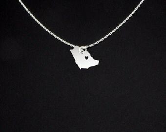 Saudi Arabia Necklace - Saudi Arabia Jewelry - Saudi Arabia Gift