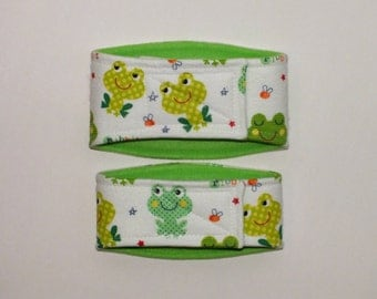 XXS-L Frogs Belly Band for male dogs with incontinence or marking issues. XXS Long dog diaper