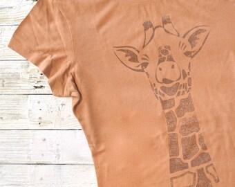 Womens T-shirts GIRAFFE Tshirt Bamboo Organic T shirt Organic Clothing Eco Clothing Womens Tee Shirt Womens Tshirt