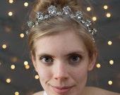 Bridal Headband ~ Handcrafted Rhinestone Headband with Satin Ribbon Detailing