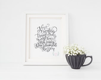The Creative Process Hand Lettering Print
