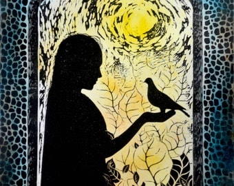 Limited edition woodcut 'Trust'