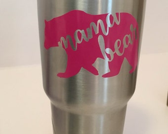 FREE SHIPPING! Mama Bear Decal - Yeti Cup - Mom Decal - Tumbler Decal