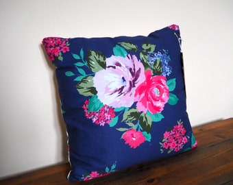 Beautiful Floral Cushion / Pillow. Decorative Pillow Cover 13 inch Cushion Cover