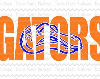Gators Knockout, Gators, Mascot, Florida, SVG, DXF, EPS, Instant Download, Digital Design