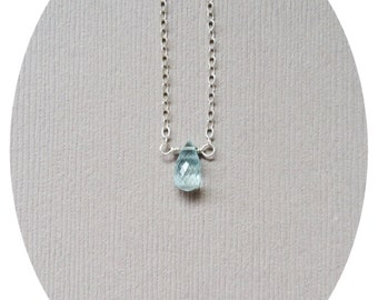 Aquamarine Necklace, Pregnancy Necklace, Fertility Jewelry, Protection Necklace, Miscarriage Protection, Healing Stone, Grief Necklace