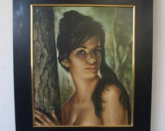 "A vintage Framed print of ""Tina"" by J.H. Lynch 1960s"