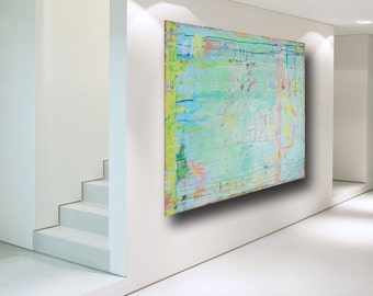Large Abstract Painting original art contemporary modern art blue painting huge painting on canvas Pastel Color home decor by Cheryl Wasilow