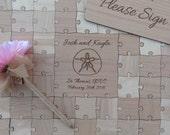 30 Pieces Custom Wedding puzzle - Wedding Guest Book Puzzle -Guest Book Alternative